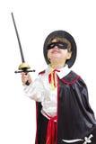 Junge mit Karnevalskostüm Lizenzfreie Stockfotos