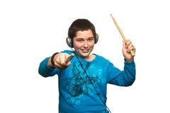 Junge mit Kopfhörern Lizenzfreie Stockfotografie