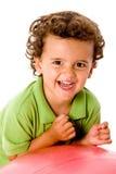 Junge mit Kugel Stockfotos