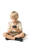 Junge mit PDA Stockfoto