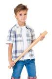 Junge mit Quetschung Stockfotografie