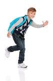 Junge mit Rucksack Lizenzfreies Stockbild