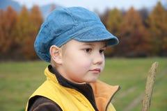 Junge mit Steuerknüppel Stockfotos
