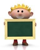 Junge mit Tafel Stockbild