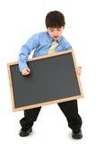 Junge mit Tafel Lizenzfreie Stockbilder