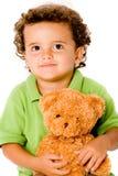 Junge mit Teddybären Stockfoto
