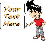 Junge mit Text Stockbilder