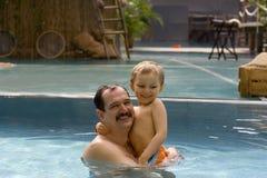Junge mit Vater Stockbilder