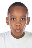 Junge mit Verwunderungsgesicht Lizenzfreie Stockfotos