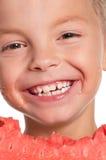 Junge mit Wassermelone Lizenzfreies Stockfoto