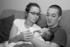 Junge multi-racial Familie Lizenzfreies Stockfoto