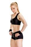 Junge muskulöse Frauenaufstellung Lizenzfreie Stockbilder