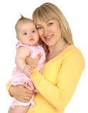 Junge Mutter mit Baby Lizenzfreie Stockbilder