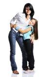 Junge Mutter mit Tochter Stockfotos