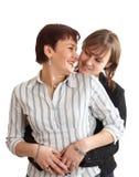 Junge Mutter mit Tochter Lizenzfreie Stockbilder