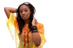 Junge nette schwarze Frau lizenzfreie stockbilder