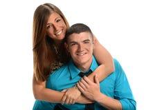 Junge Paar-Umfassung Stockfotos