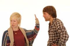 Junge Paarargumentierung Lizenzfreies Stockfoto