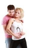 Junge Paaraufstellung Lizenzfreie Stockfotografie