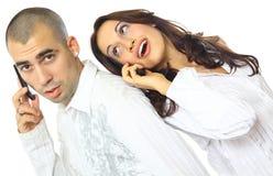 Junge Paaraufstellung Stockbilder