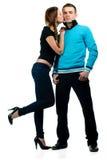 Junge Paaraufstellung Lizenzfreies Stockfoto