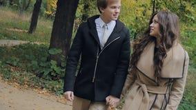 Junge Paare auf einem Datum stock video