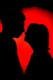 Junge Paare auf Valentinstag Lizenzfreies Stockfoto