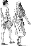 Junge Paare auf Verabredung Lizenzfreie Stockbilder