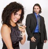 Junge Paare an der Partyfeier Stockbilder