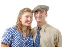 Junge Paare in der Weinlesekleidung, 40s Stockfoto