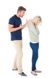 Junge Paare, die ein Argument haben Lizenzfreies Stockbild