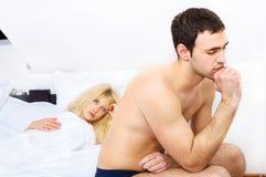 Junge Paare haben Problem Lizenzfreie Stockfotos