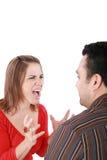 Junge Paare im Konflikt lizenzfreies stockbild