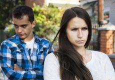 Junge Paare Konflikt Stockbilder