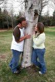 Junge Paare in Liebe 2 Lizenzfreies Stockbild