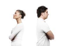 Junge Paare mit einem Problem Stockbilder