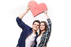 Junge Paare mit rotem Innerem Lizenzfreies Stockfoto