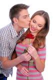 Junge Paare mit stiegen Stockfotos