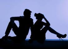 Junge Paare während des Kampfes Lizenzfreie Stockbilder