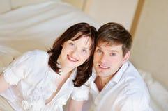 Junge Paarnahaufnahme Lizenzfreies Stockfoto