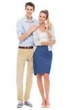 Junge Paarstellung stockbilder