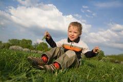 Junge am Park Lizenzfreies Stockbild