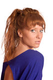 Junge Redheadfrau stockbilder