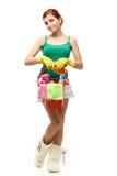 Junge Reinigungsfrau Stockfoto