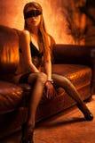 Junge reizvolle Frau Stockfoto