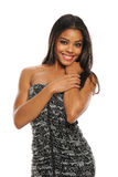 Junge schöne Afroamerikaner-Frau Lizenzfreies Stockfoto