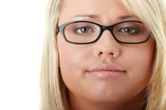 Junge schöne blonde Frau Lizenzfreies Stockfoto