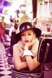Junge schöne blonde Frau Lizenzfreie Stockfotos