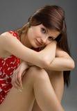 Junge schöne Brunettefrau Stockbilder