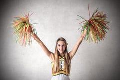 Junge schöne Cheerleader Stockfotos